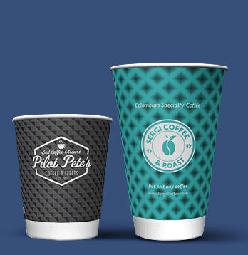 printed cups with double wall insulation