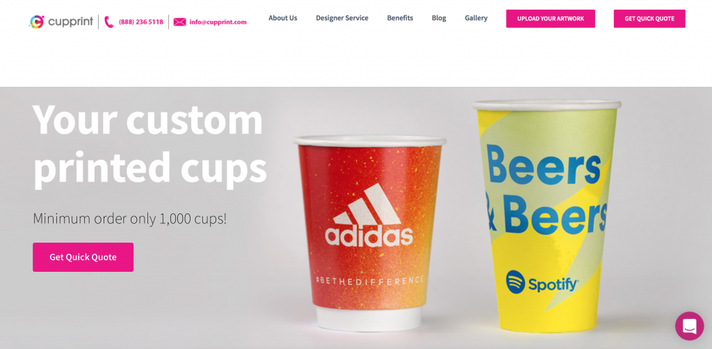 Printed Cups - Custom Produced by CupPrint USA