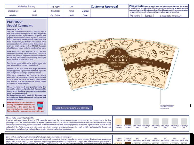 Cupprint Designer Service Step 2