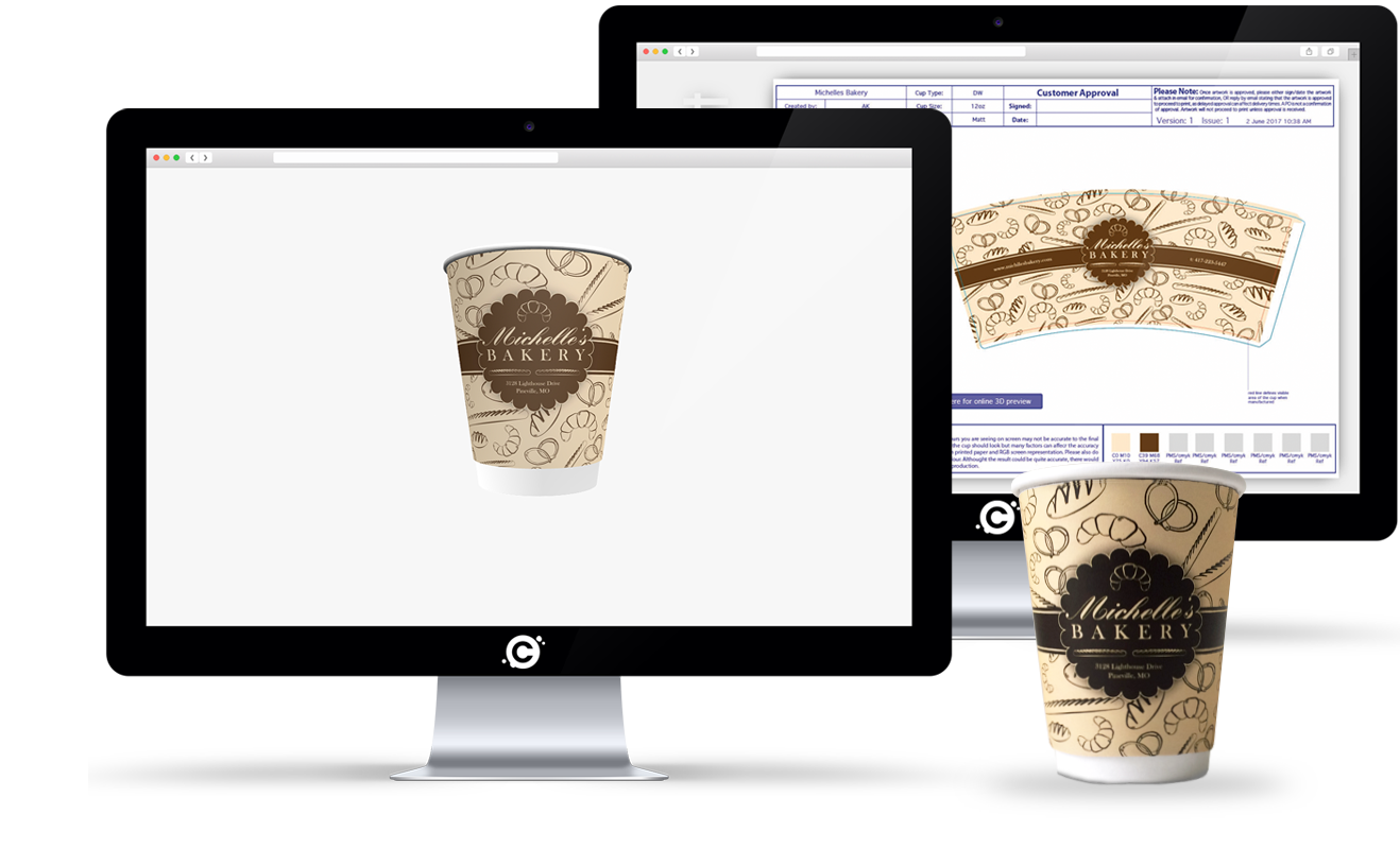 Cupprint upload your artwork for printed coffee cups