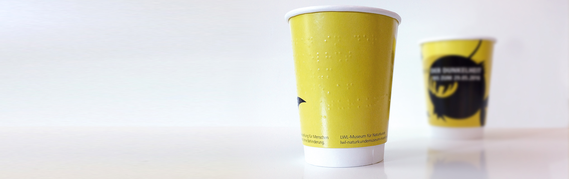 Braille printed paper cup by cupprint
