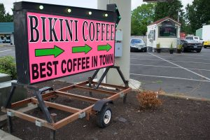 bikini coffe sign