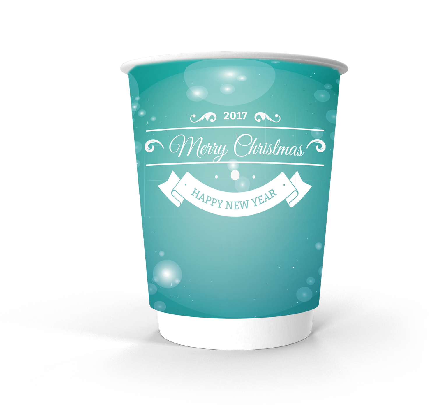 Double Wall Paper cup 12oz Xmas ice
