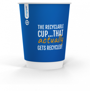image of frugalpac recyclable friendly paper coffee cup