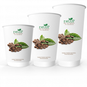 image of recup eco friendly recyclable paper coffee cup