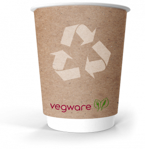 Image of vegware fully compostable paper coffee cup