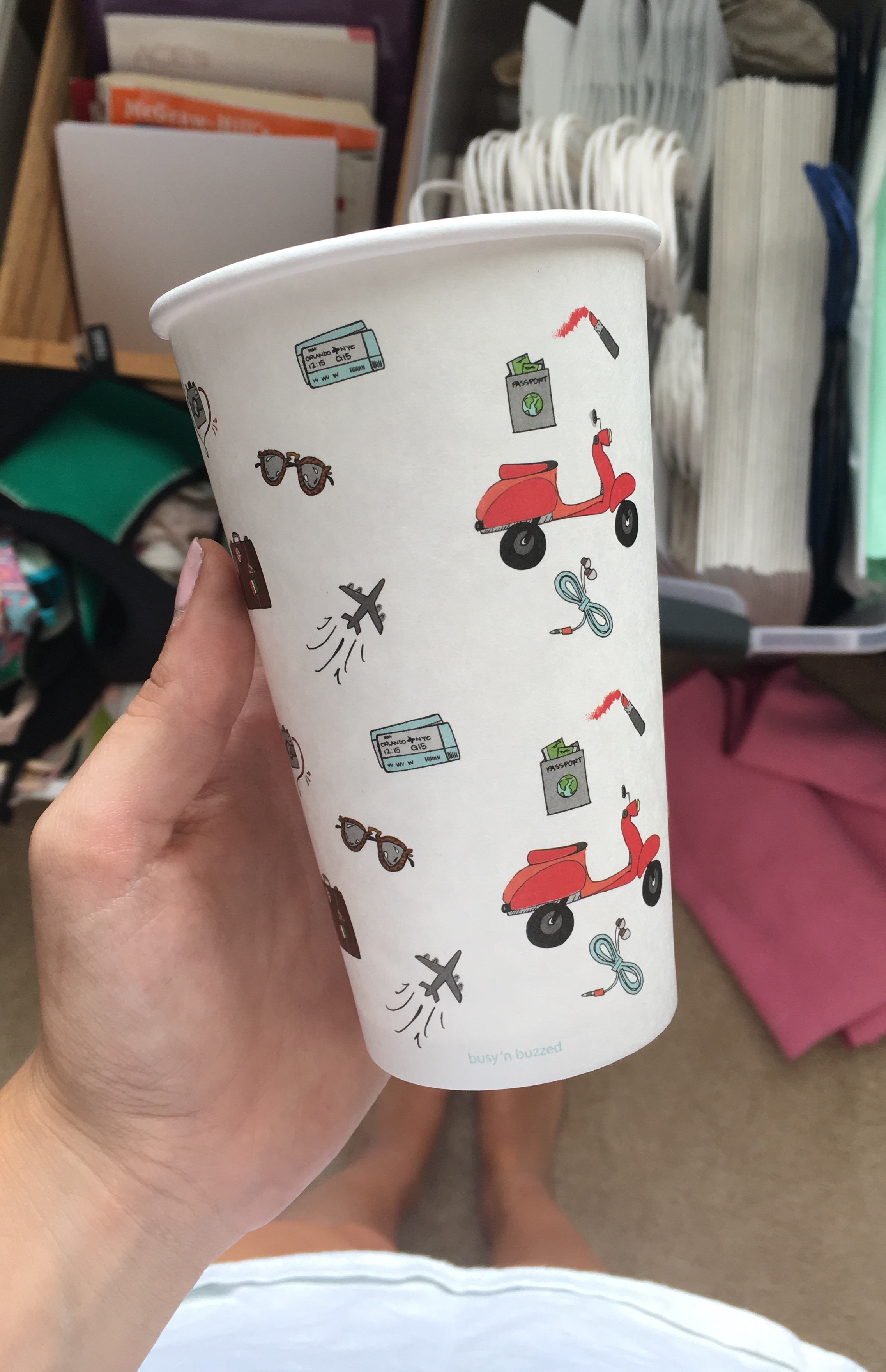 Busy n' Buzzed Custom Printed Cups 1