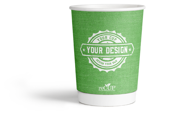 image of recyclable paper coffee cup by cup print